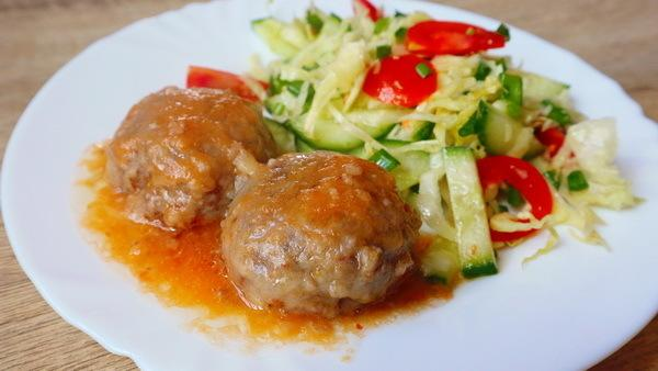 Постные тефтели с гречкой и грибами в томатной подливе – пошаговый рецепт с фотографиями