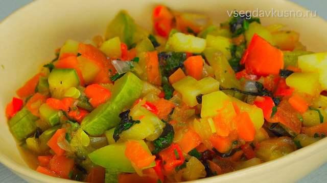 Овощное рагу – пошаговый рецепт с фотографиями