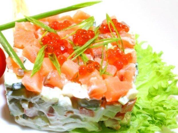 Оливье с лососем – пошаговый рецепт с фотографиями