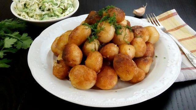 Жареная молодая картошечка – пошаговый рецепт с фотографиями