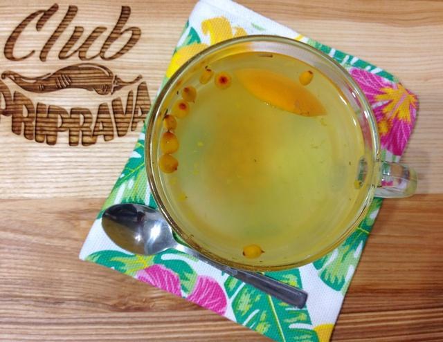 Облепиховый чай – пошаговый рецепт с фотографиями