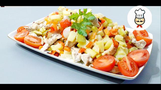 Рагу из овощей и курицы в духовке – пошаговый рецепт с фотографиями