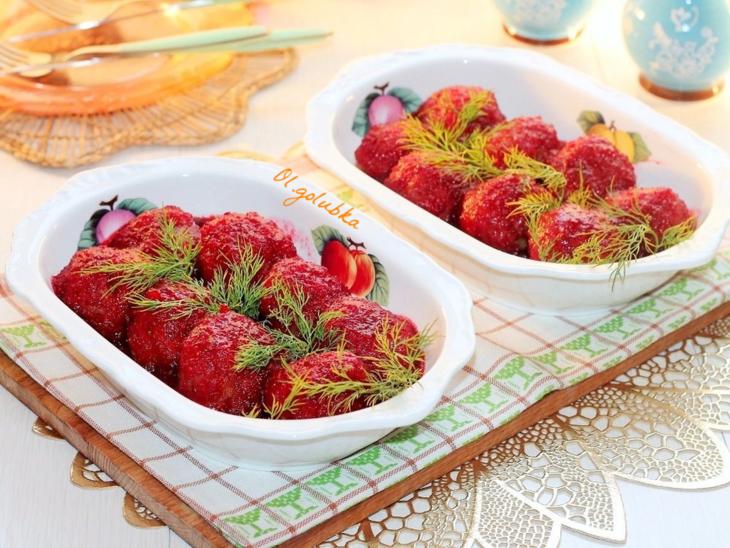 Фрикадельки с клюквенным соусом – пошаговый рецепт с фотографиями