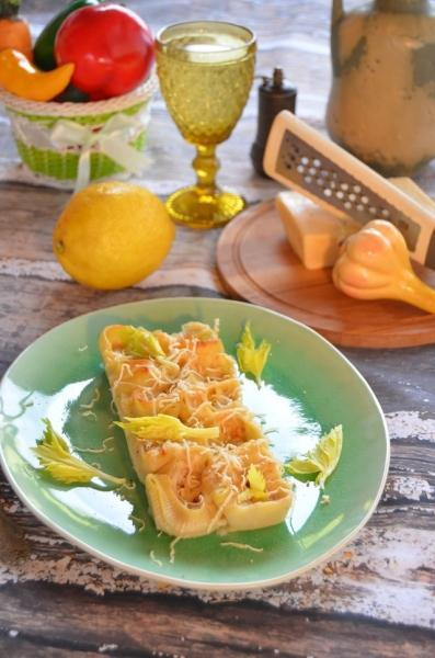 Ракушки, фаршированные жульеном из кальмаров. – пошаговый рецепт с фотографиями