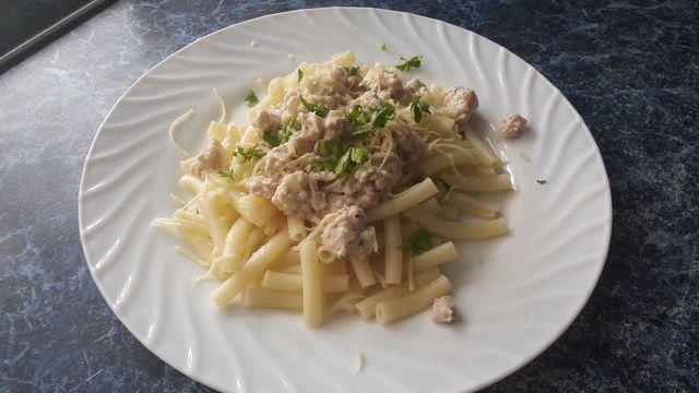 Макароны с фаршем в сливочном соусе – пошаговый рецепт с фотографиями