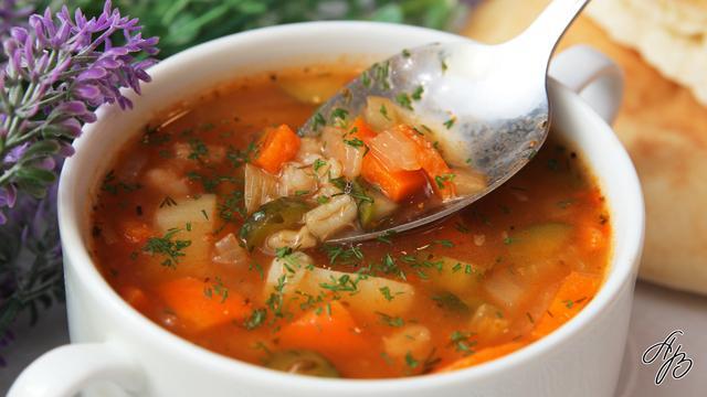 Постный суп рассольник  – пошаговый рецепт с фотографиями