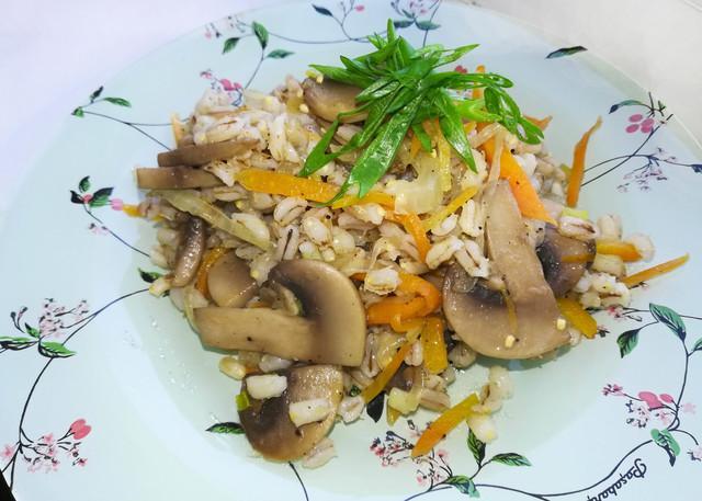Перловка с грибами и овощами – пошаговый рецепт с фотографиями