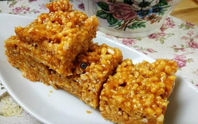 Воздушный карамельный рис – пошаговый рецепт с фотографиями