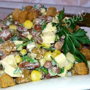 Шустрый салат - моментально готовится и еще быстрей съедается.  – пошаговый рецепт с фотографиями