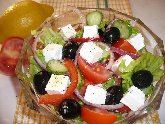 Салат греческий  – пошаговый рецепт с фотографиями