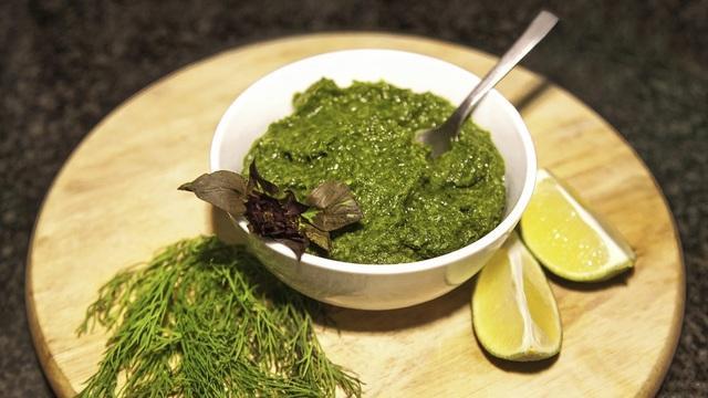 Зеленый соус из укропа и базилика на зиму. – пошаговый рецепт с фотографиями