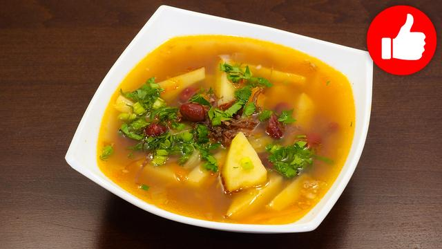 Суп с консервированной фасолью и тушенкой – пошаговый рецепт с фотографиями