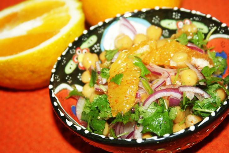 Марокканский острый салат с нутом – пошаговый рецепт с фотографиями