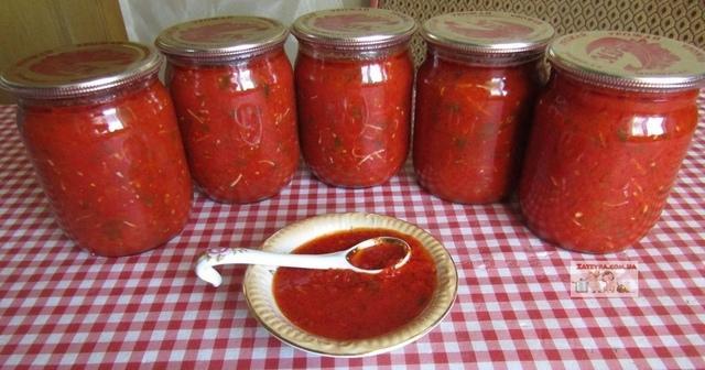 Томатный соус с болгарским перцем на зиму – пошаговый рецепт с фотографиями