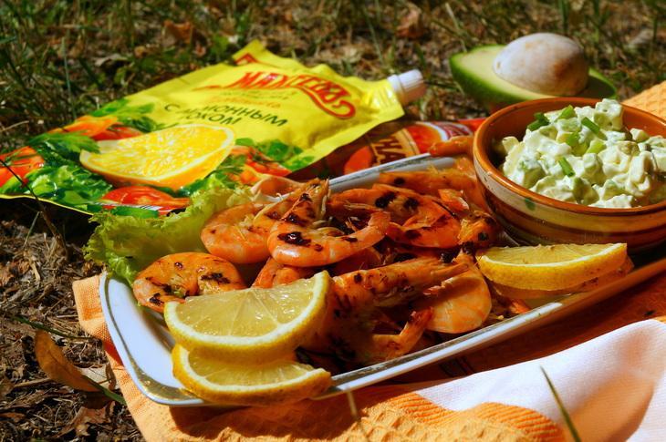Королевские креветки на гриле с авокадо соусом #махеевънаприроде – пошаговый рецепт с фотографиями