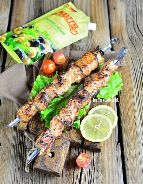 Шашлык из лосося с хреном – пошаговый рецепт с фотографиями