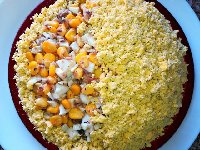 Салат из рыбных консервов /салаты без майонеза. – пошаговый рецепт с фотографиями