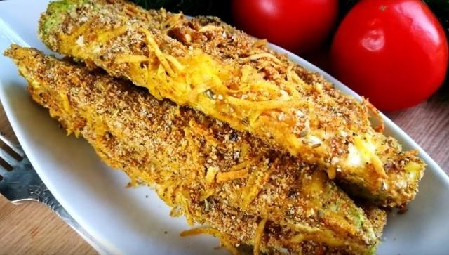Кабачки в сырной панировке – пошаговый рецепт с фотографиями