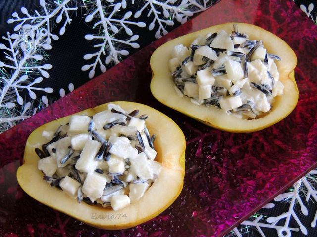 Салат в груше с диким рисом – пошаговый рецепт с фотографиями
