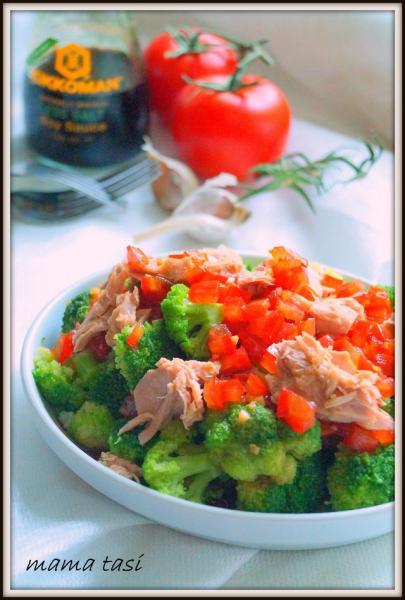 Салат из брокколи с тунцом и помидорно-лимонной заправкой. – пошаговый рецепт с фотографиями