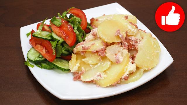 Картофельная запеканка с колбасой – пошаговый рецепт с фотографиями