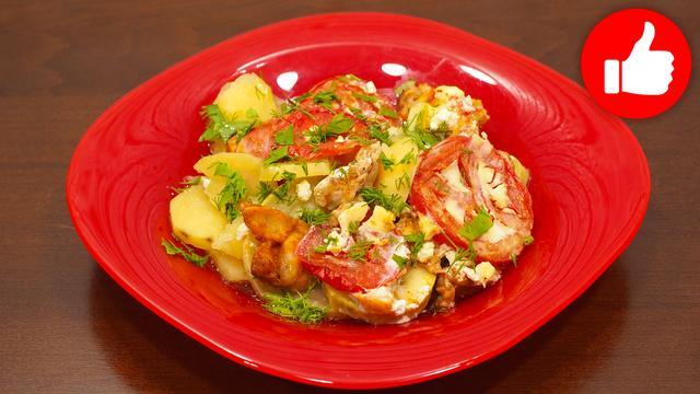 Курица с картошкой и кабачками – пошаговый рецепт с фотографиями