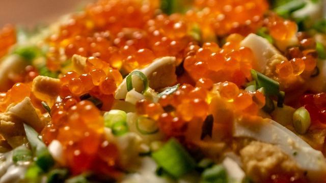 Картофельный салат с икрой – пошаговый рецепт с фотографиями