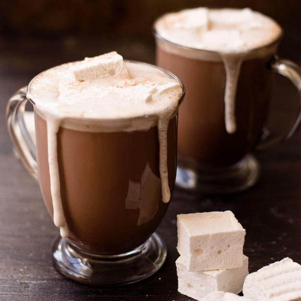 Горячий шоколад с домашним маршмэллоу