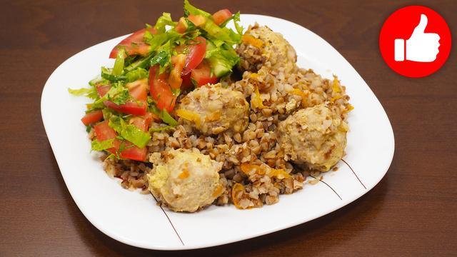 Недорогое сытное блюдо гречка с мясными шариками – пошаговый рецепт с фотографиями
