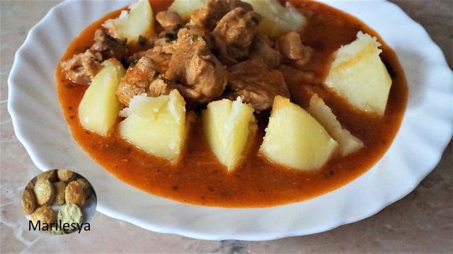 Гуляш с картошкой – пошаговый рецепт с фотографиями