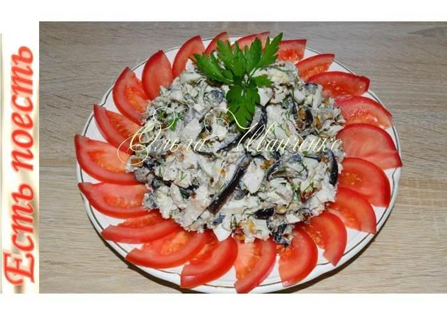 Салат лилек с баклажанами  – пошаговый рецепт с фотографиями