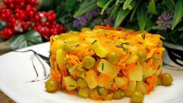 Картофельный салат с горошком – пошаговый рецепт с фотографиями