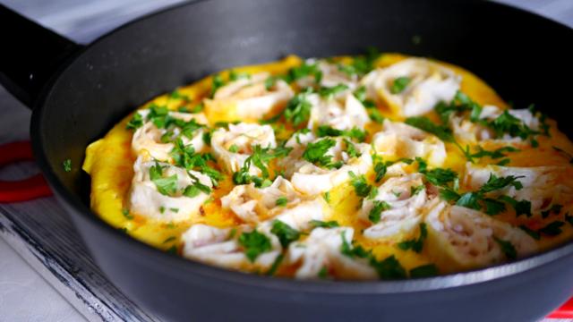 Завтрак из яиц и лаваша – пошаговый рецепт с фотографиями