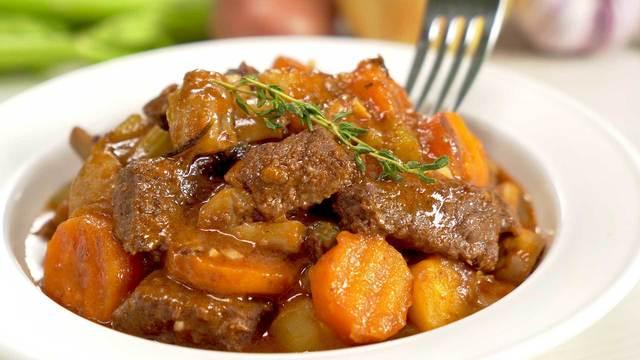 Жаркое из говядины с овощами – пошаговый рецепт с фотографиями