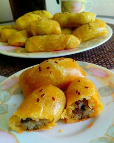 Пирожки с картофелем и грибами – пошаговый рецепт с фотографиями