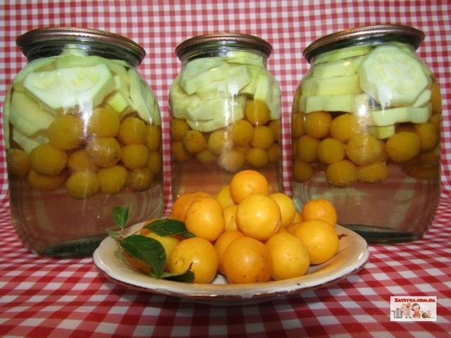 Кабачки с алычой «как ананасы» (домашние ананасы) – пошаговый рецепт с фотографиями