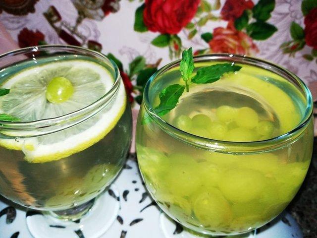 напиток из винограда,лимона и мяты. – пошаговый рецепт с фотографиями