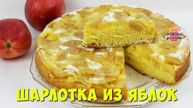 Шарлотка с яблоками в духовке – пошаговый рецепт с фотографиями