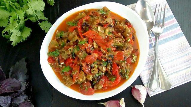 Салат из печёных овощей – пошаговый рецепт с фотографиями