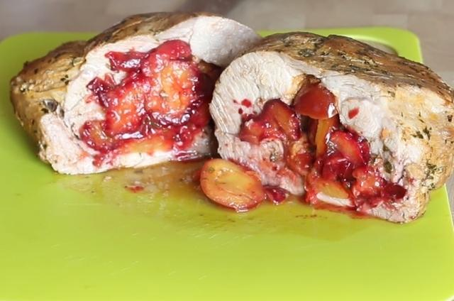 Свинина, запеченная со сливами – пошаговый рецепт с фотографиями