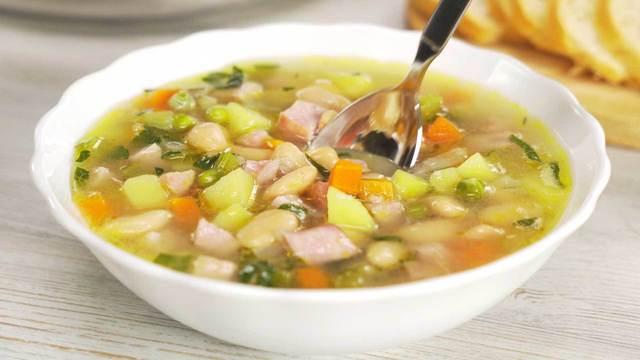 Фасолевый суп с ветчиной за 30 минут – пошаговый рецепт с фотографиями