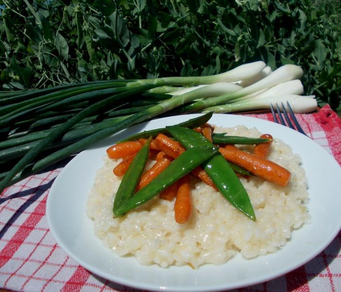 Ризотто с молодой морковью и горошком – пошаговый рецепт с фотографиями
