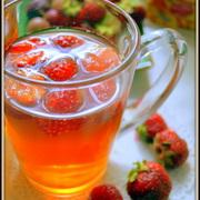 Холодный освежающий чай с ледяной клубникой. – пошаговый рецепт с фотографиями