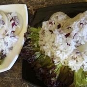 Тёплый салат из морепродуктов с рисом (дуэль) – пошаговый рецепт с фотографиями