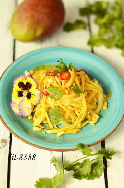 Тайский салат из зеленого манго ям мамуанг. – пошаговый рецепт с фотографиями