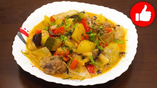 Овощное рагу с фрикадельками – пошаговый рецепт с фотографиями