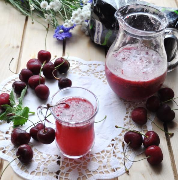 Шипучий вишнёво-мятный напиток – пошаговый рецепт с фотографиями