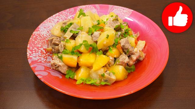 Деревенская картошка с мясом, как приготовить жаркое – пошаговый рецепт с фотографиями