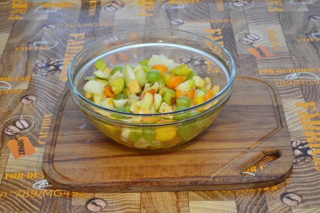 Видео-рецепт. салат фруктовый рай  – пошаговый рецепт с фотографиями