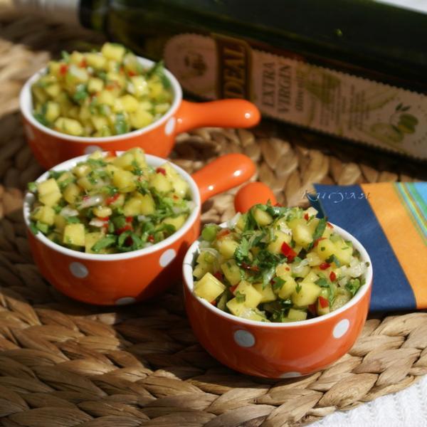 Мексиканский салат с манго и чили – пошаговый рецепт с фотографиями